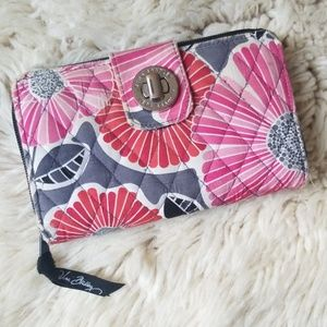 Vera Bradley Turn Lock Zip Around Wallet